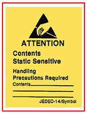 ESD Attention Label